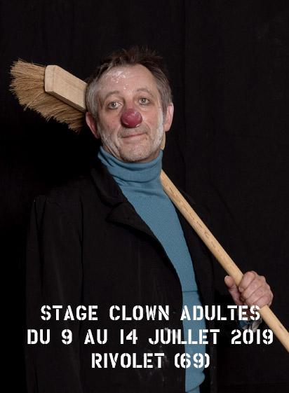 Stage de clown du 9 au 14 juillet 2019 à Rivolet