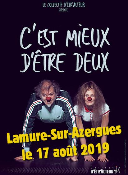 C'est mieux d'être deux à Lamure-Sur-Azergues le 17 août 2019
