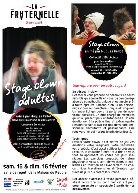 Stage Clown à Saint-Claude
