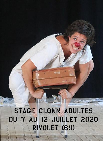 Stage de clown du 7 au 12 juillet 2020 à Rivolet