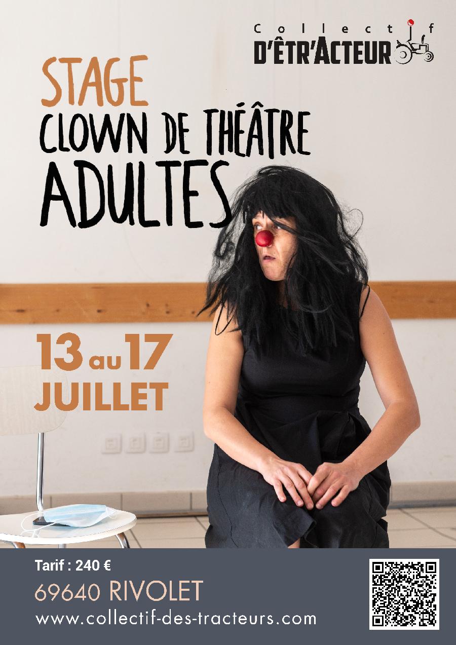 Stage de clown du 13 au 17 juillet 2021 à Rivolet