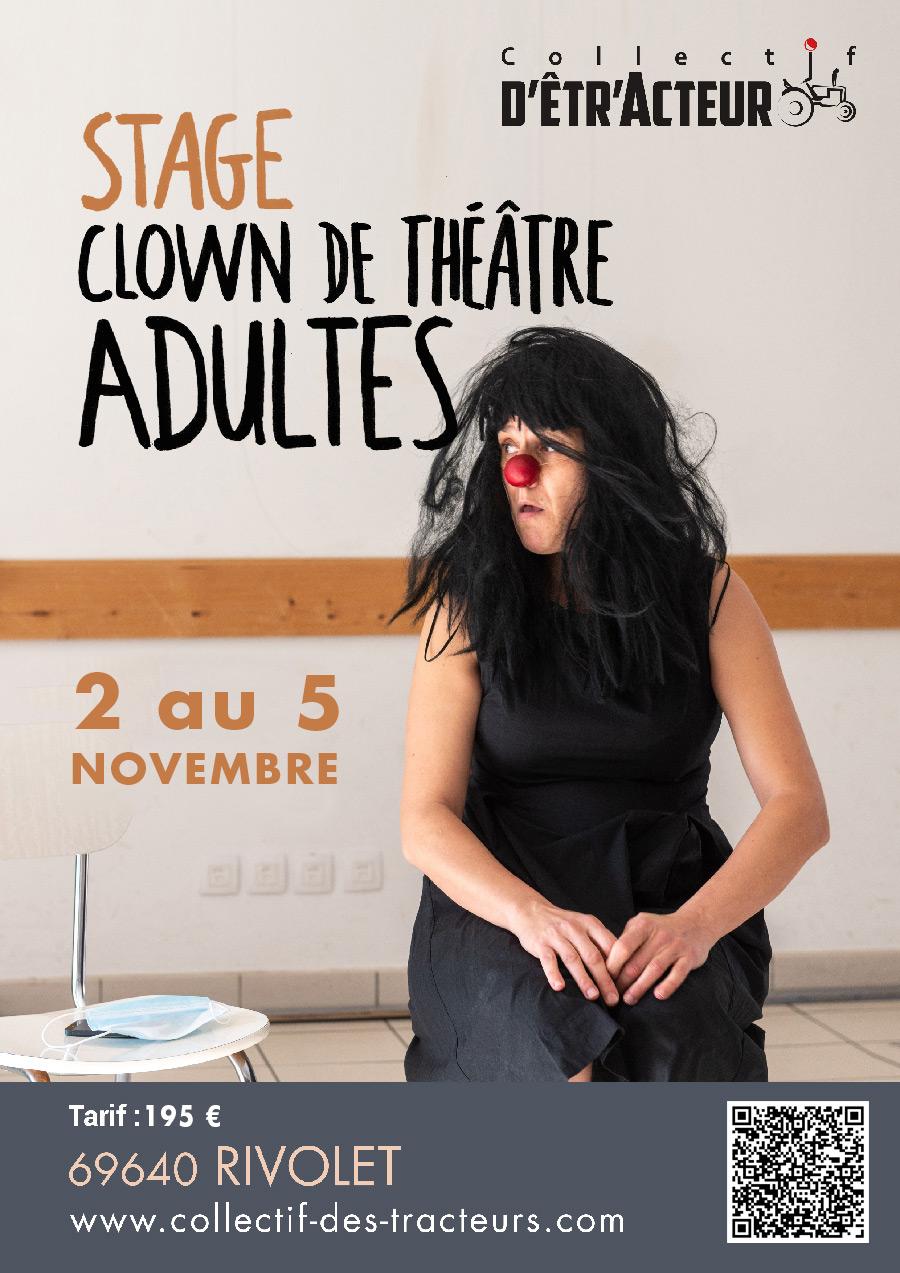 Stage de clown du 2 au 5 novembre 2021 à Rivolet